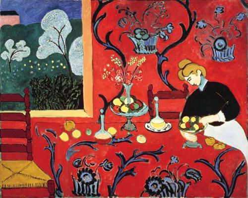 HENRI MATISSE LA desserte Harmonie en rouge 1908