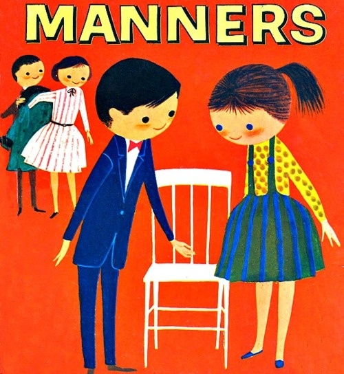 Manners Matters 1960 illustration for children