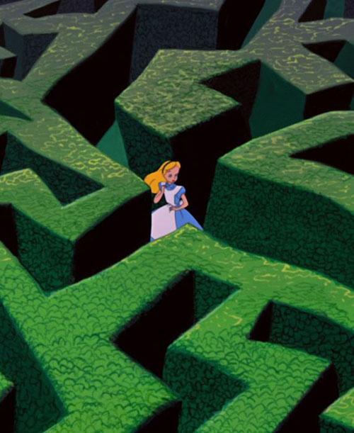 alice wonderland maze