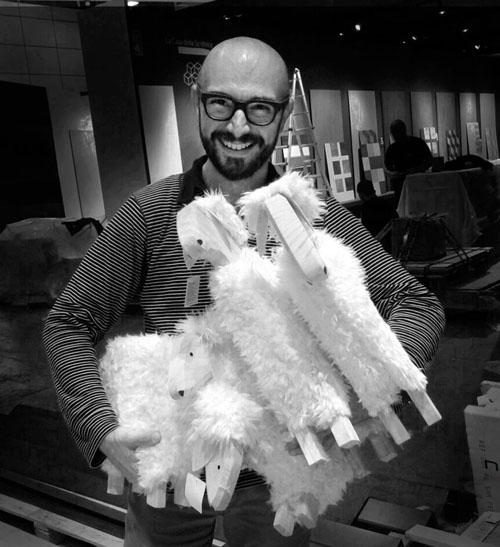 Francesco Catalano et les moutons